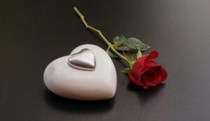 Grief Heart Rose